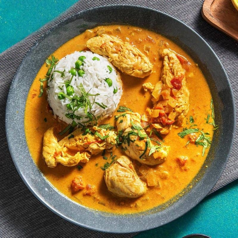 chefs plate Chicken Korma Curry
