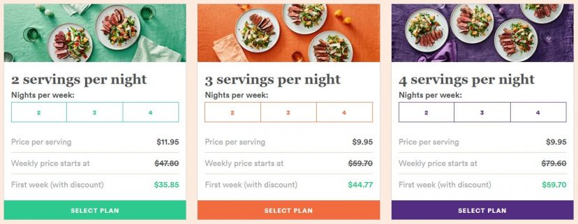 plated meal plans