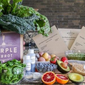 purple carrot meal box