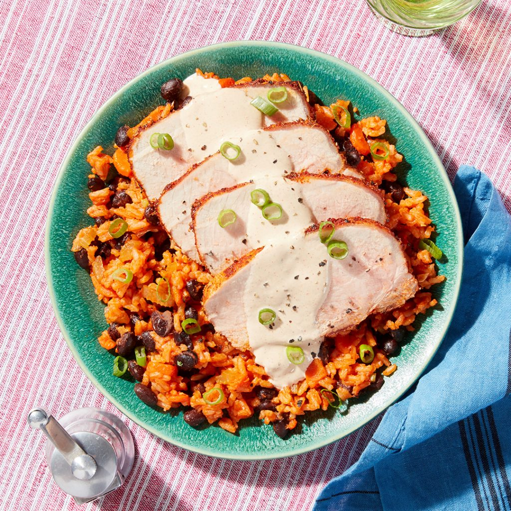 blue apron pork meal
