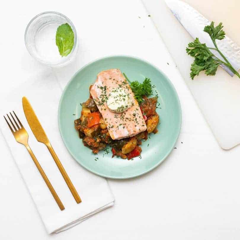 livefit salmon ratatouille meal prep
