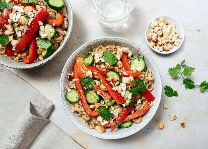 fresh prep vegan meal