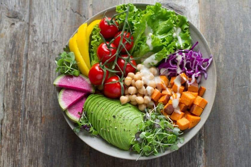 vegan meal kit plate