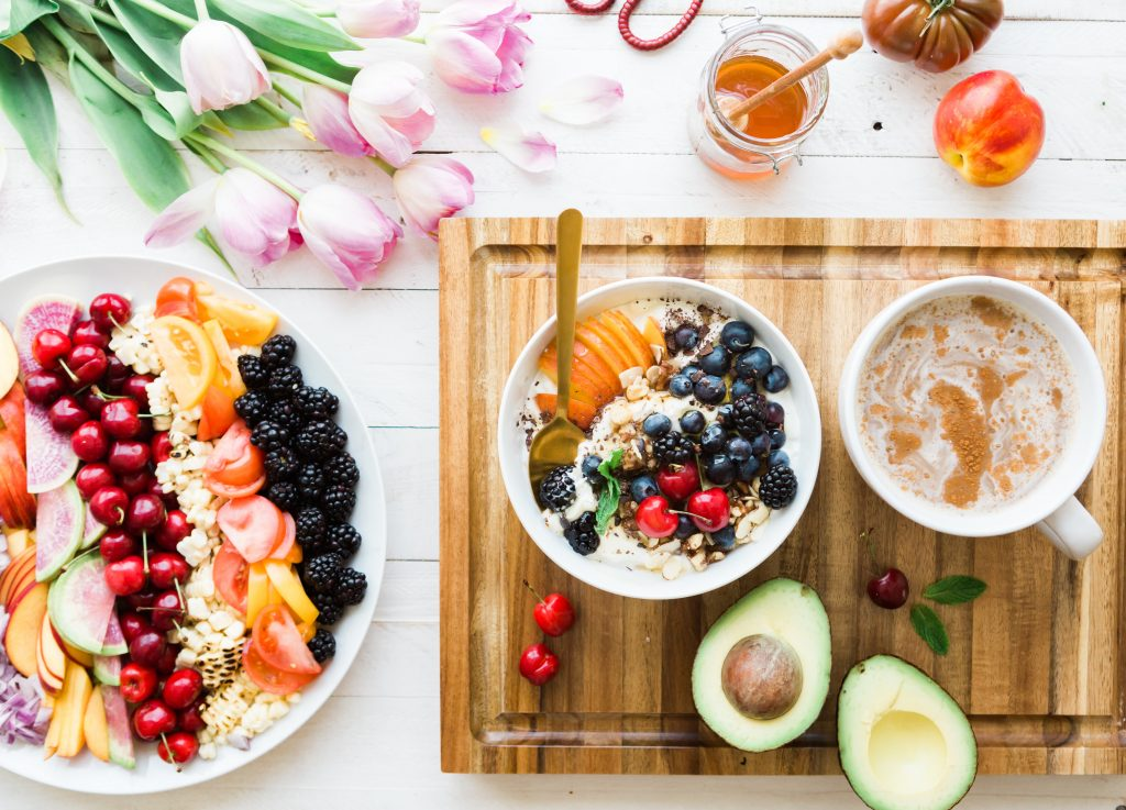 Fruit and other ingredients for meal prep