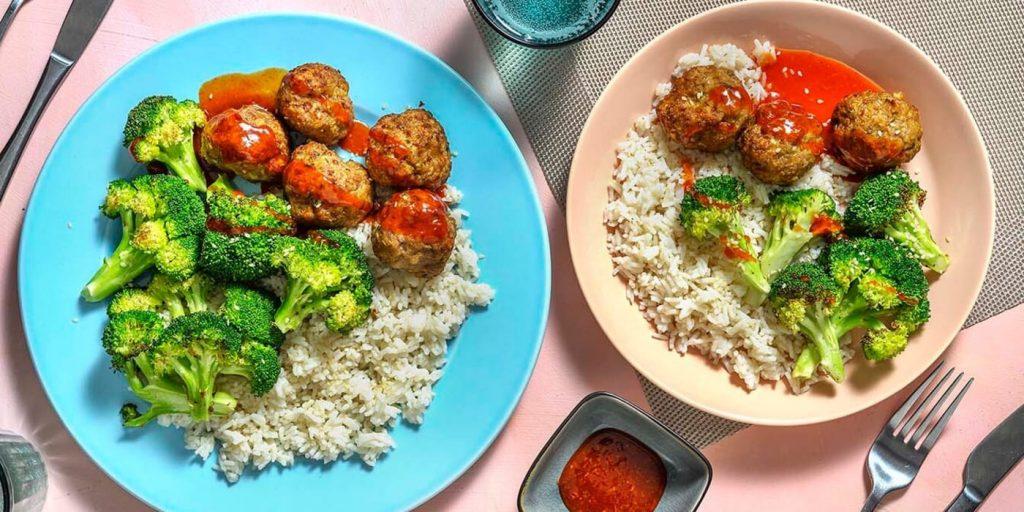 ChefsPlate spicy honey garlic meatballs