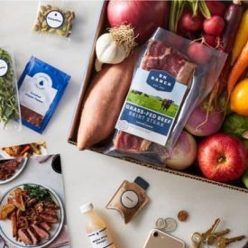 blue apron meal box open